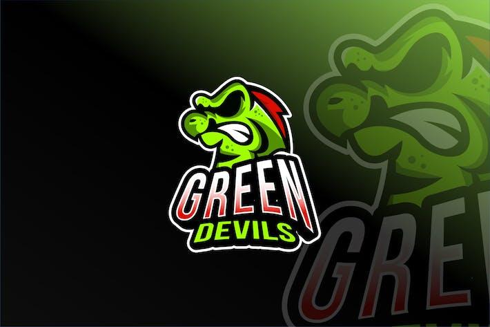 Thumbnail for Green Devils Esport Logo Template