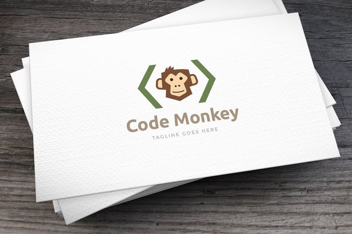 Thumbnail for Code Monkey Logo Template
