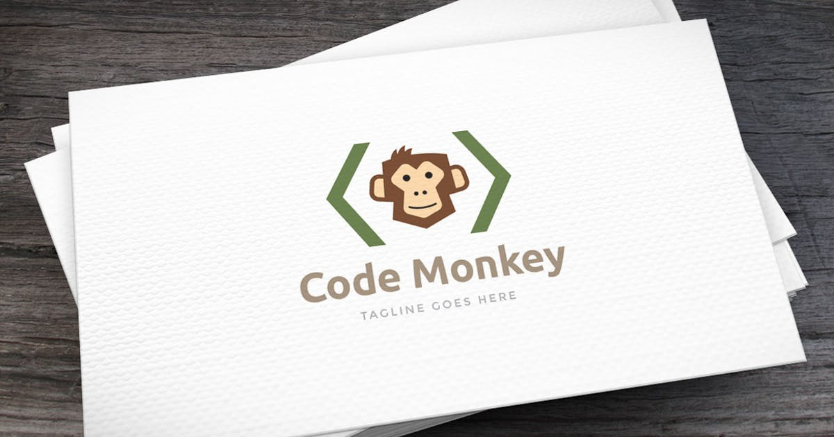 Code Monkey Logo Template by empativo