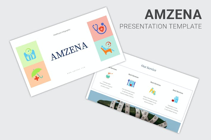 Amzena - Healthcare Infographic Powerpoint