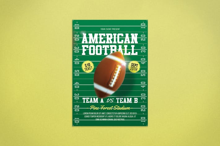 Thumbnail for American Football Flyer