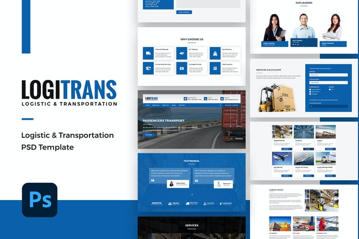 Thumbnail for Logistic PSD Template - Logitrans