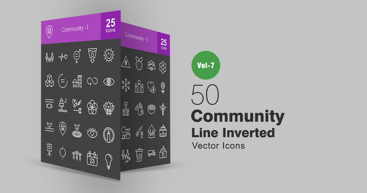 Download 50 Community Line Inverted Icons by Unknow