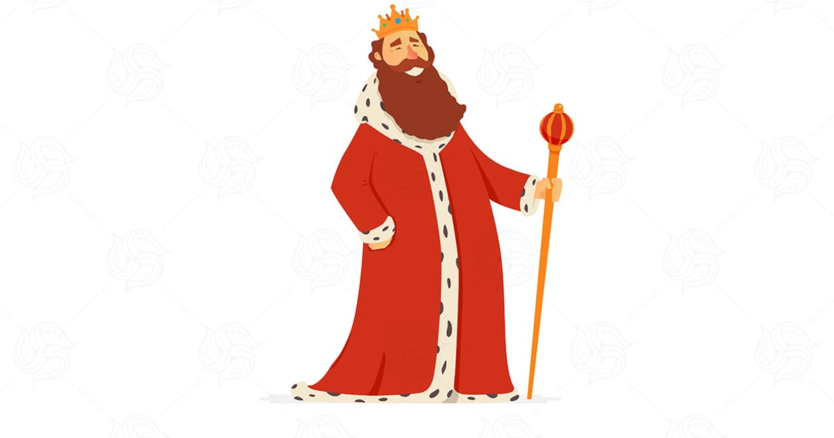 Download King - vector people characters illustration by BoykoPictures