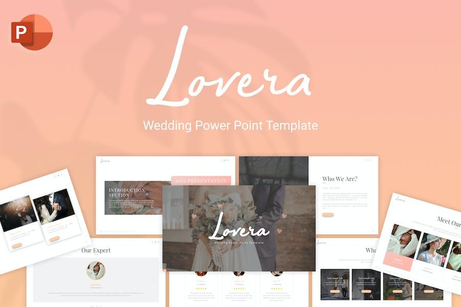 Lovera Wedding Minimalist PowerPoint Template