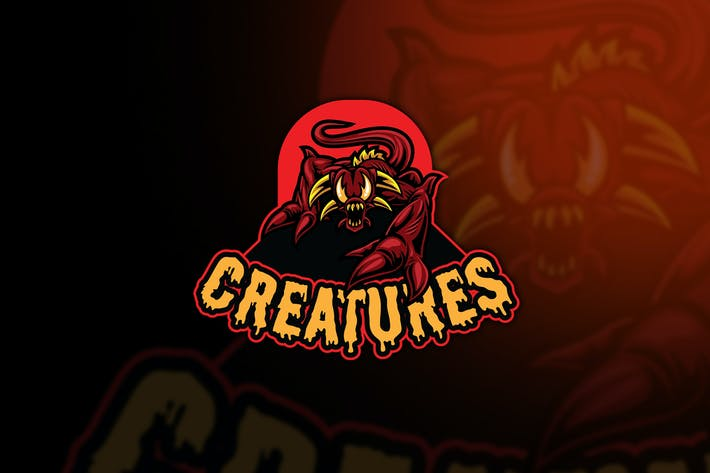 Thumbnail for Creatures Esport Logo Template