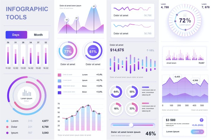 Thumbnail for Gradient Infographics Template Vector Design