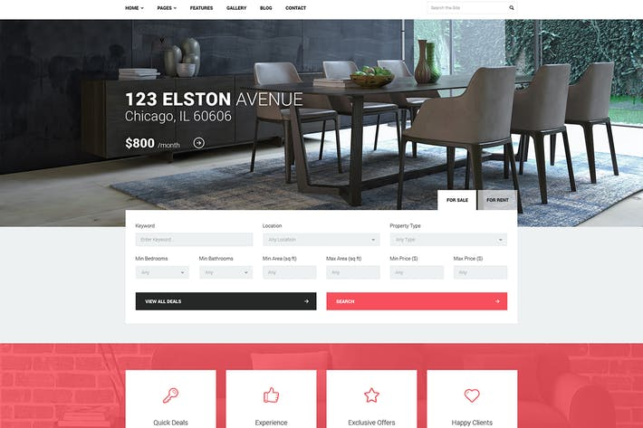 Thumbnail for Good Homes - Real Estate WordPress Theme