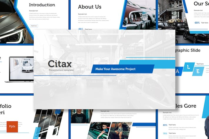 Thumbnail for Citax - Powerpoint Template