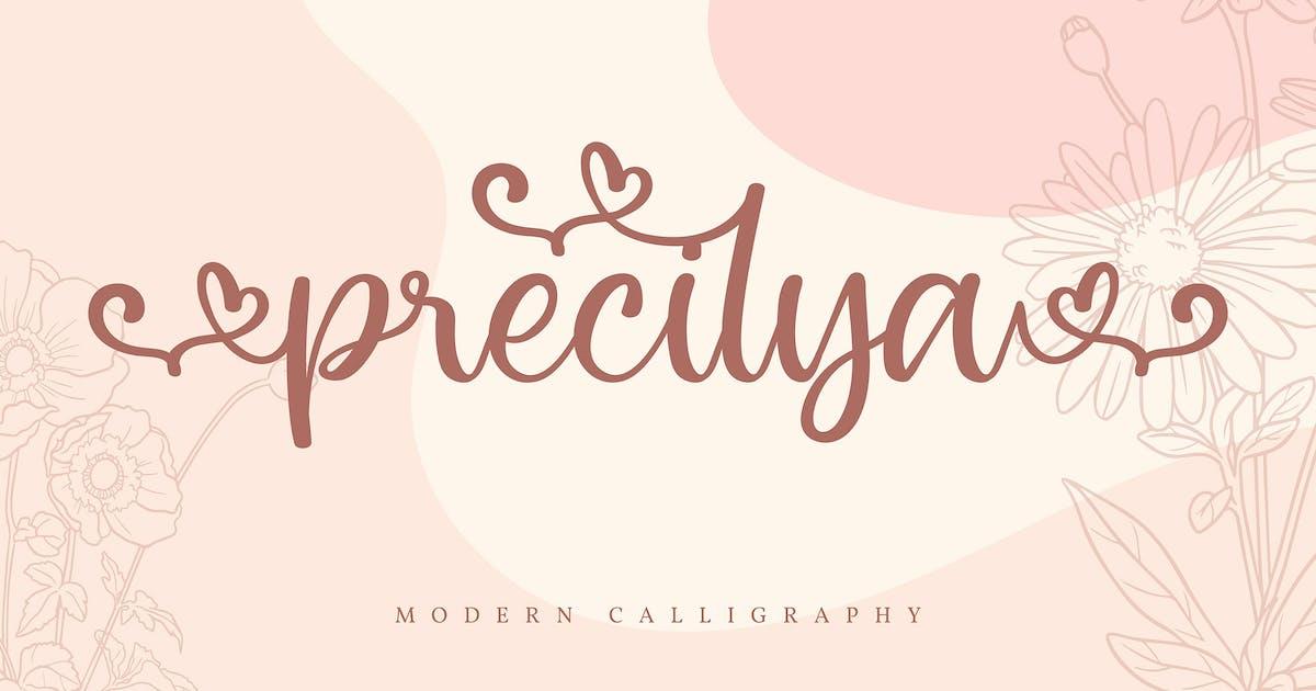 Download Precilya | Modern Calligraphy Font by Vunira