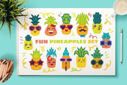 Fun Pineapple Charscters Set