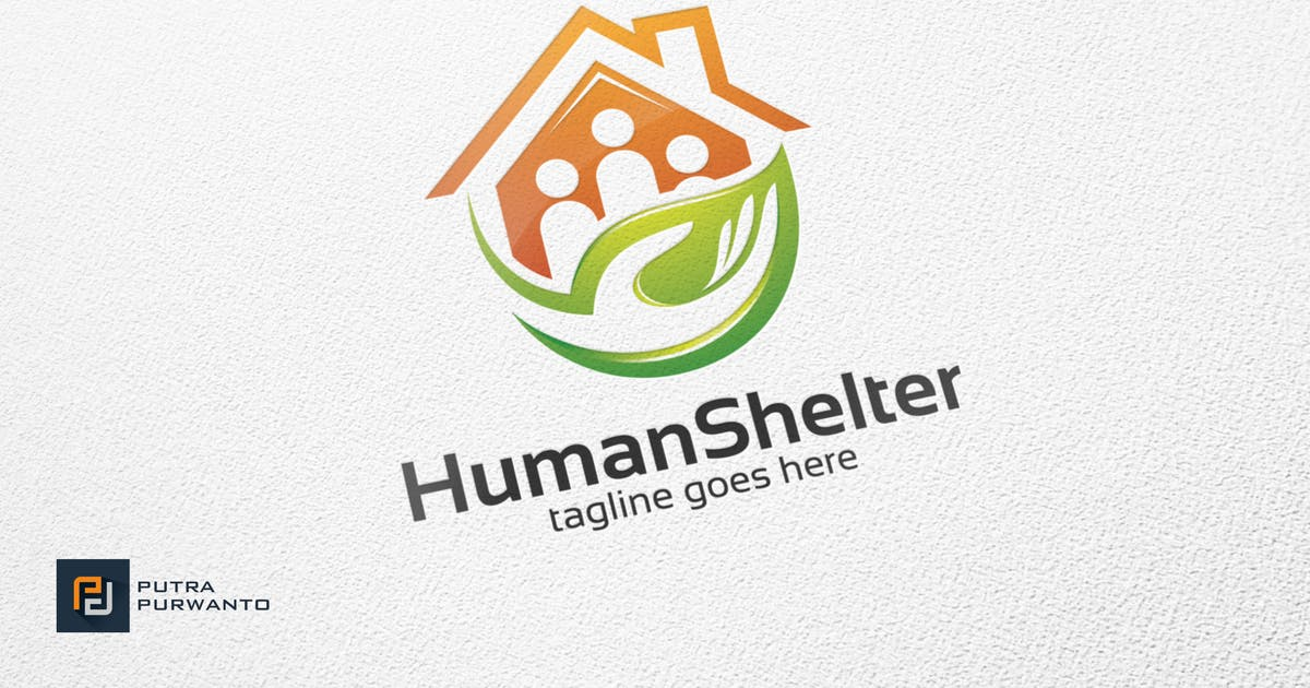 Human Shelter - Logo Template by putra_purwanto