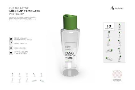 Flip Top Bottle Mockup Template Set