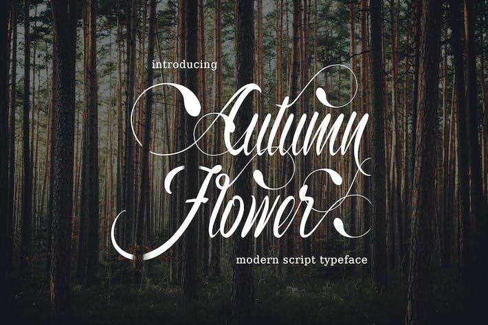 Thumbnail for Autumn Flower Typeface