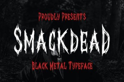 Smackdead - Черная металлическая шрифт