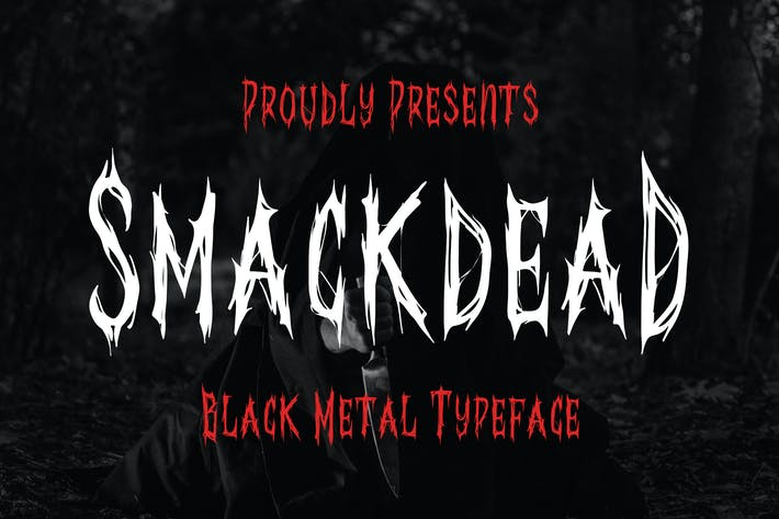 Thumbnail for Smackdead - Black Metal Typeface