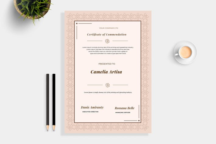 Thumbnail for Brown Certificate Template