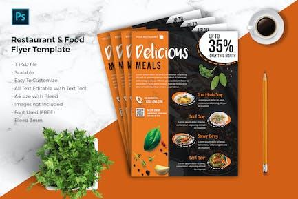 Restaurant & food Flyer Template vol-02