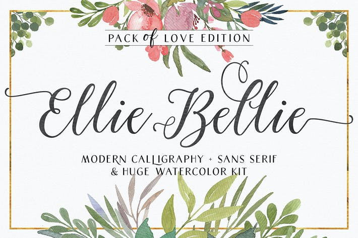 Thumbnail for Ellie Bellie Font Duo Negro