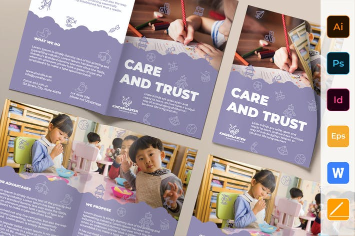 Thumbnail for Kindergarten Brochure Bifold