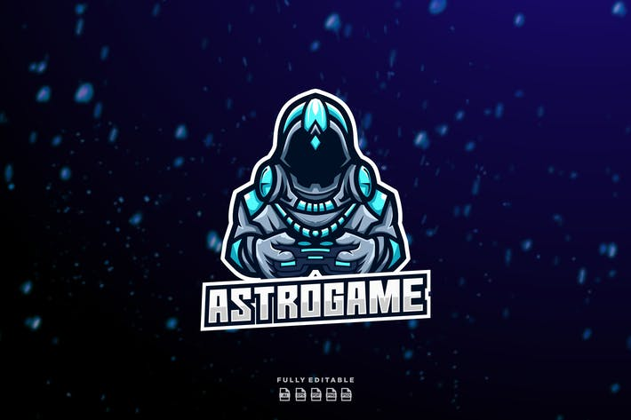 Thumbnail for Astronaut Play Gamer Logo