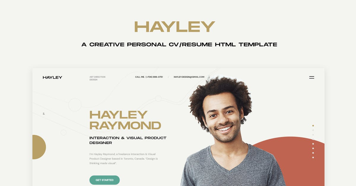 Download HAILEY - Creative Personal CV/Resume HTML Template by paul_tf