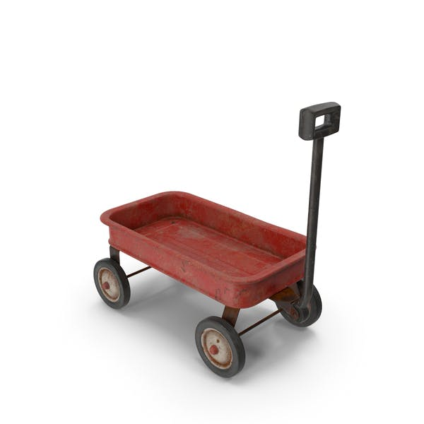 Toy Wagon Rusty Parked