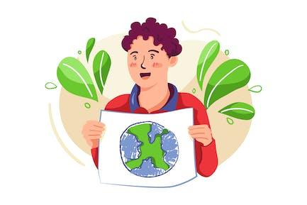 Mutter Erde Tag Illustration Konzept