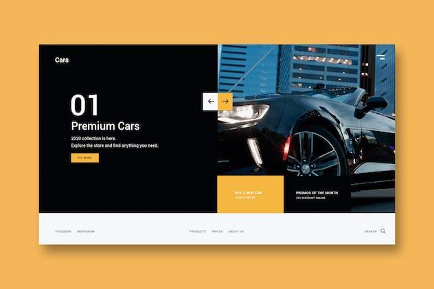 Premium Cars - Landing Page