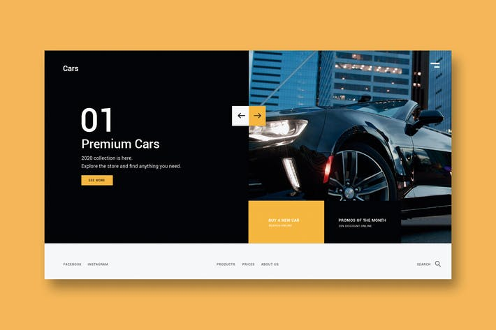 Thumbnail for Premium Cars - Landing Page