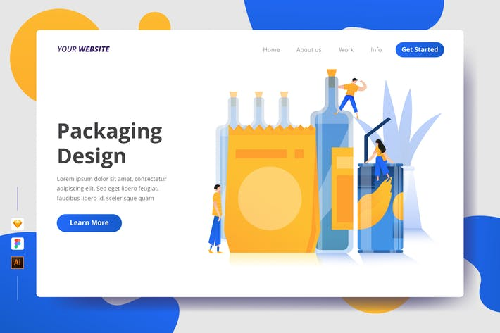 Thumbnail for Packaging Design - Landing Page