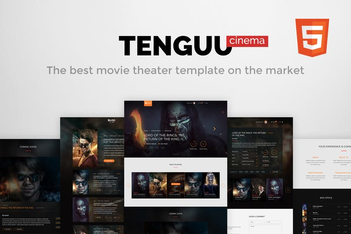 Thumbnail for Tenguu Cinema - Movie Theater HTML Template
