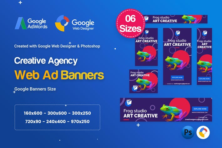 Thumbnail for Creative, Startup Agency Banners HTML5 D60 - GWD