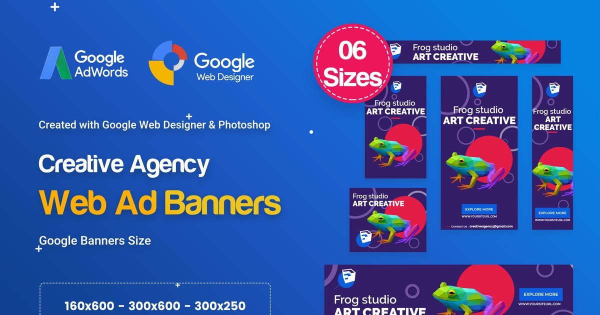 Download Creative, Startup Agency Banners HTML5 D60 - GWD by iDoodle