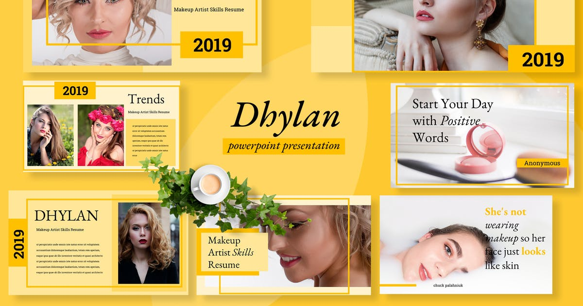 Download Dhylan Beauty Salon Powerpoint by TMint