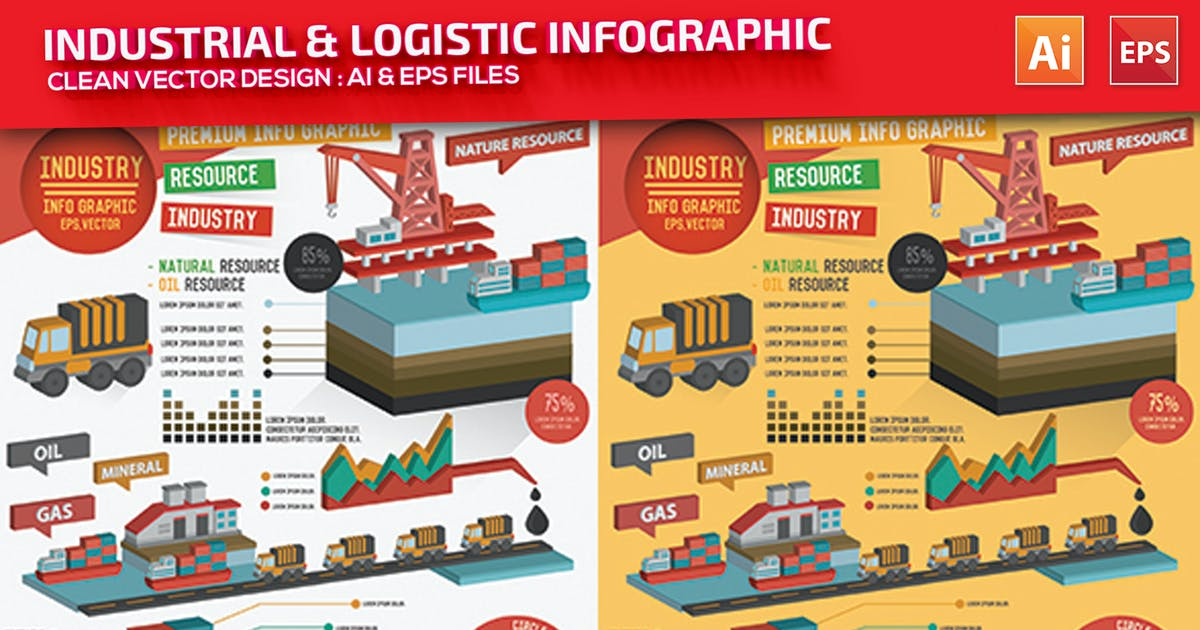 Download Industry & Logistic Infographic Design by mamanamsai