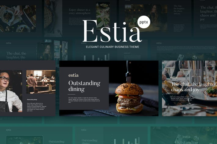 Thumbnail for ESTIA - Culinary Powerpoint Template