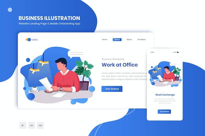 Thumbnail for Appli Travailler au bureau pour atterrir à plat et intégration