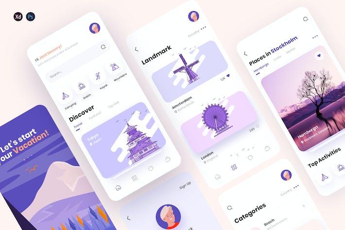 Traap - Travel Mobile App UX, UI Template