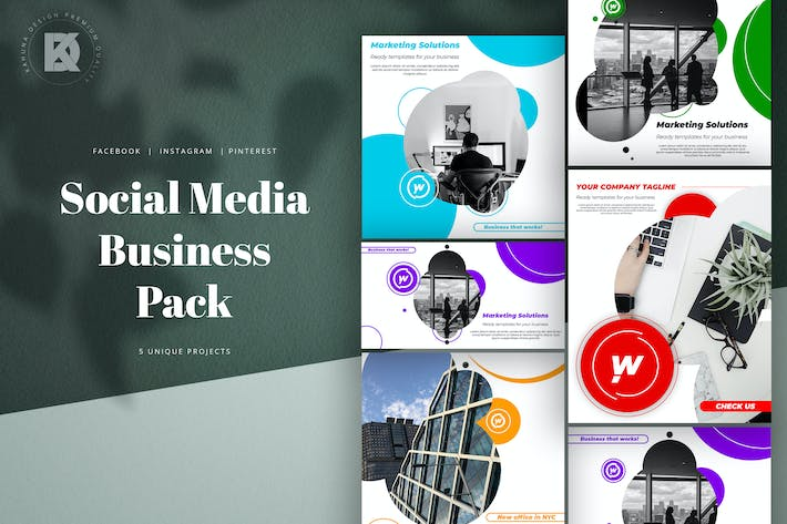 Thumbnail for Business Agency Social Media Pack