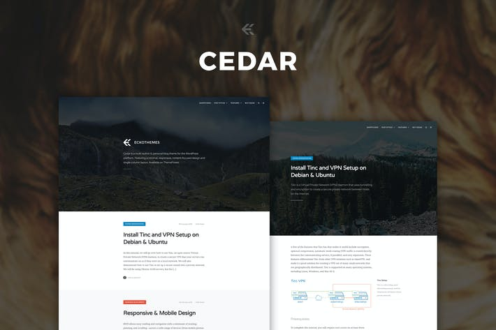 Cover Image For Cedar - Responsive Ghost Theme