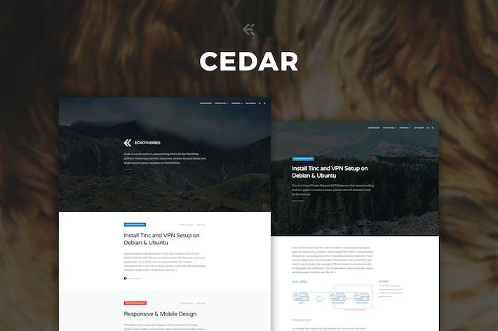 Thumbnail for Cedar - Responsive Ghost Theme