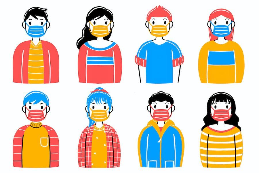 Wear a Mask Illustration #01
