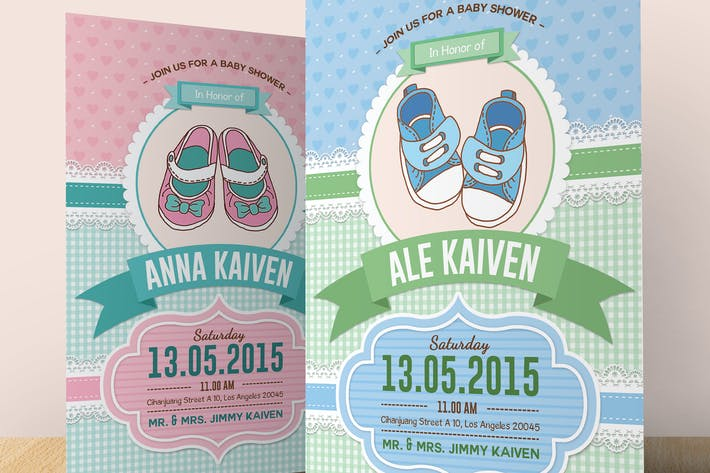 Cover Image For Baby Shower Invitation (Boy & Girl)