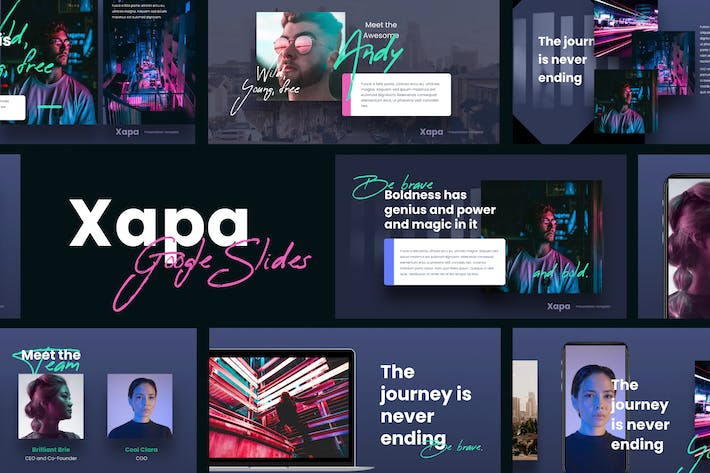 Thumbnail for XAPA - Modern Google Slides Template
