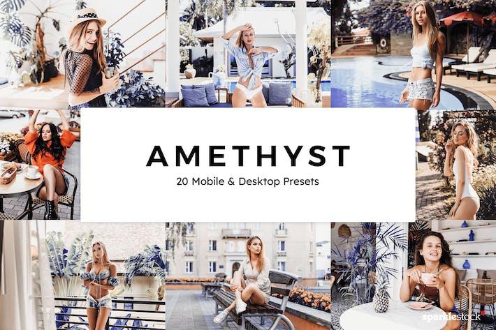 20 Amethyst Lightroom Presets & LUTs