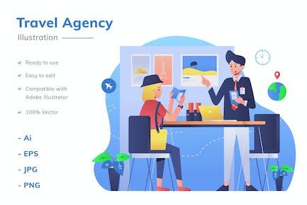 Ilustración de Agencia viajes