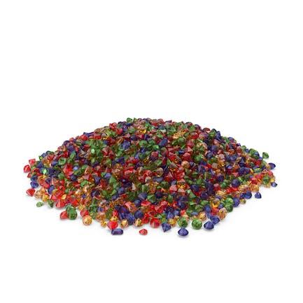 Großer Stapel mit gemischten Edelsteinen