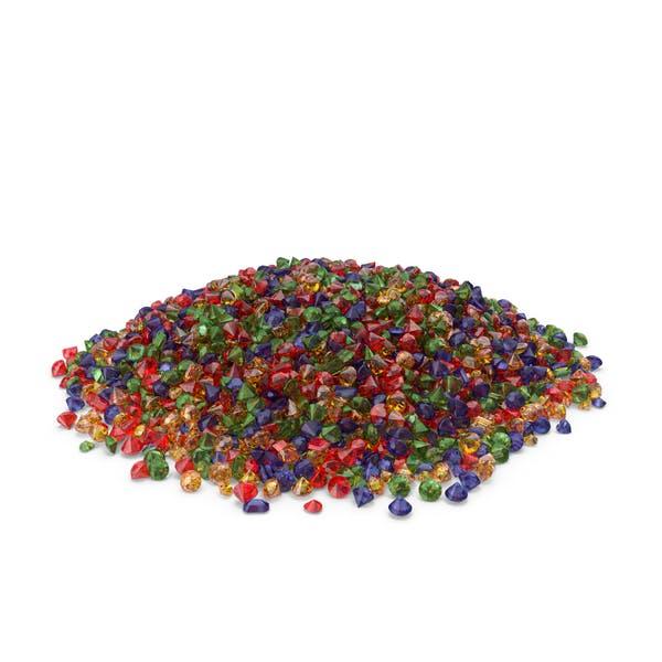 Large Mixed Gems pile