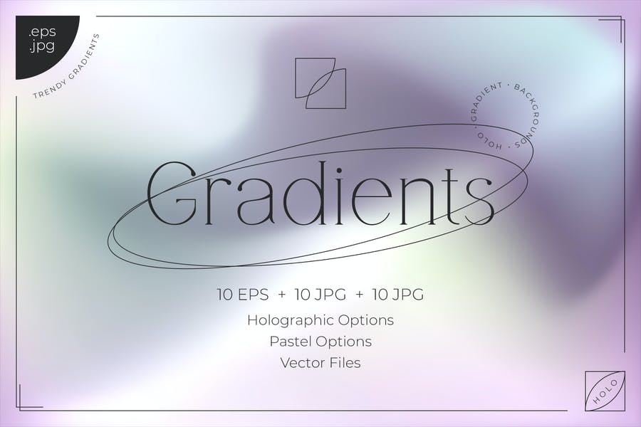 Holo Gradient Backgrounds